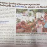 Grâce à Carine Chevrier de Sème et récolte,un premier jardin participatif a ouvert aux habitants sur Toulon. Edition du 07/07/2017: